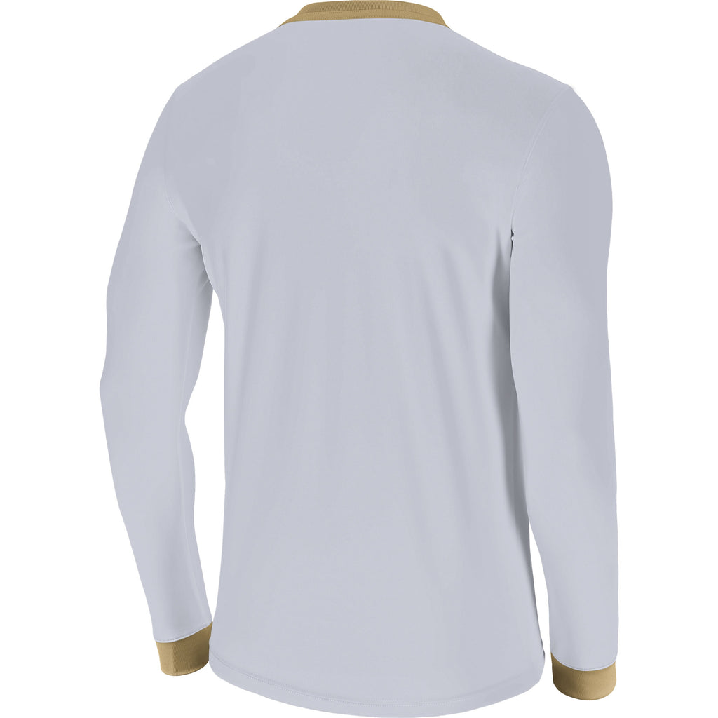 Nike Park Derby II LS Football Shirt (White/Jersey Gold/Jersey Gold)