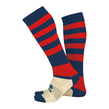 Load image into Gallery viewer, Errea Zone Football Sock (Navy/Red)