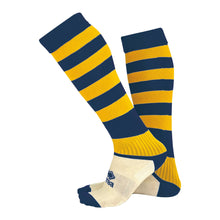 Load image into Gallery viewer, Errea Zone Football Sock (Navy/Yellow)