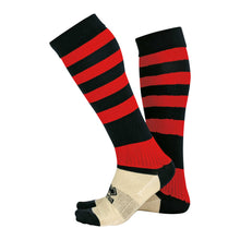 Load image into Gallery viewer, Errea Zone Football Sock (Black/Red)
