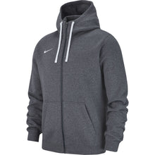 Load image into Gallery viewer, Nike Team Club 19 Full-Zip Hoodie (Charcoal Heather/White)
