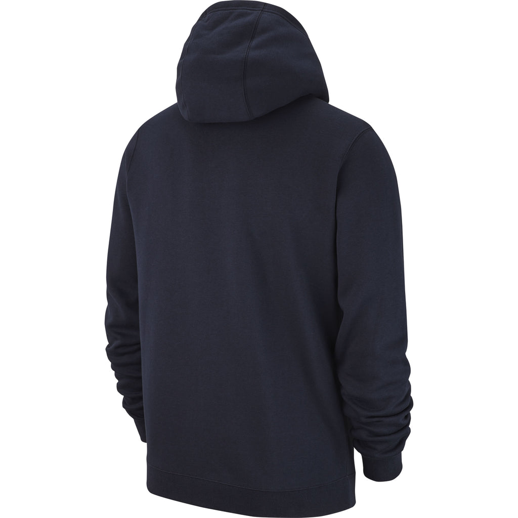 Nike Team Club 19 Full-Zip Hoodie (Obsidian/White)