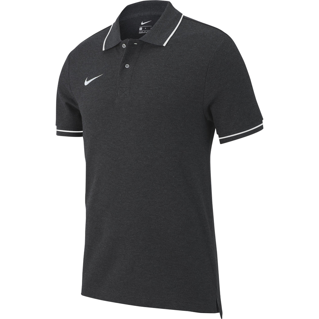 Nike Team Club 19 Polo (Charcoal Heather/White)