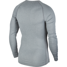 Load image into Gallery viewer, Nike Compression Crew Long Sleeve Top (Smoke Grey/Black)