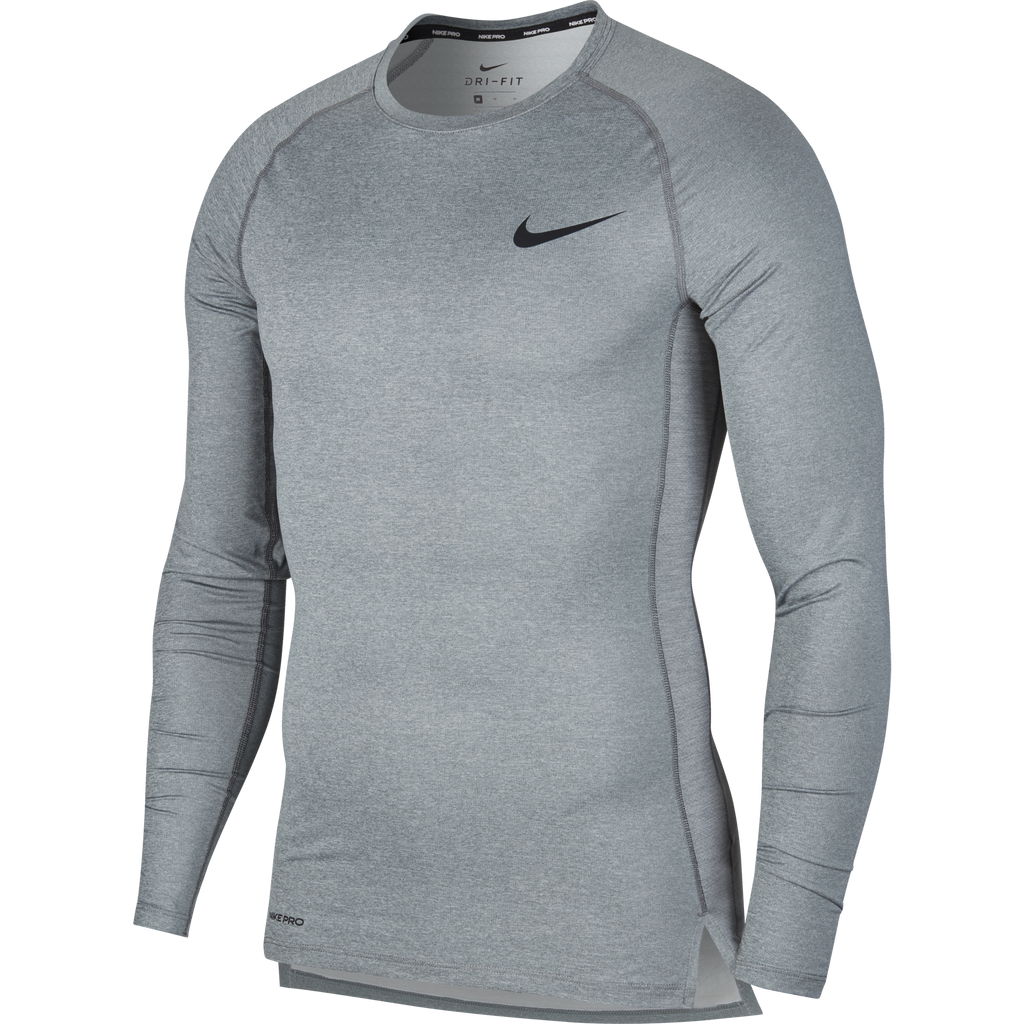 Nike Compression Crew Long Sleeve Top (Smoke Grey/Black)
