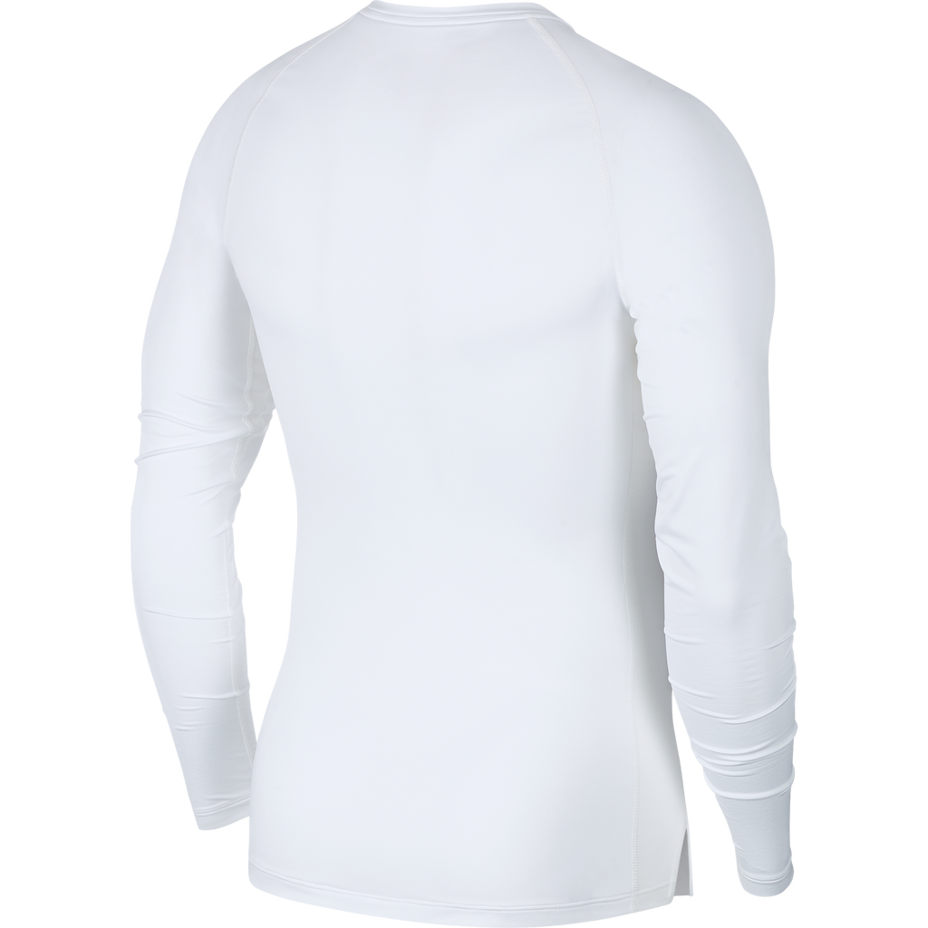 Nike Compression Crew Long Sleeve Top (White/Black)