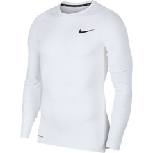 Load image into Gallery viewer, Nike Men's Pro Tight Fit Long-Sleeve Top (White/Black)