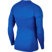 Load image into Gallery viewer, Nike Compression Crew Long Sleeve Top (Game Royal/Black)