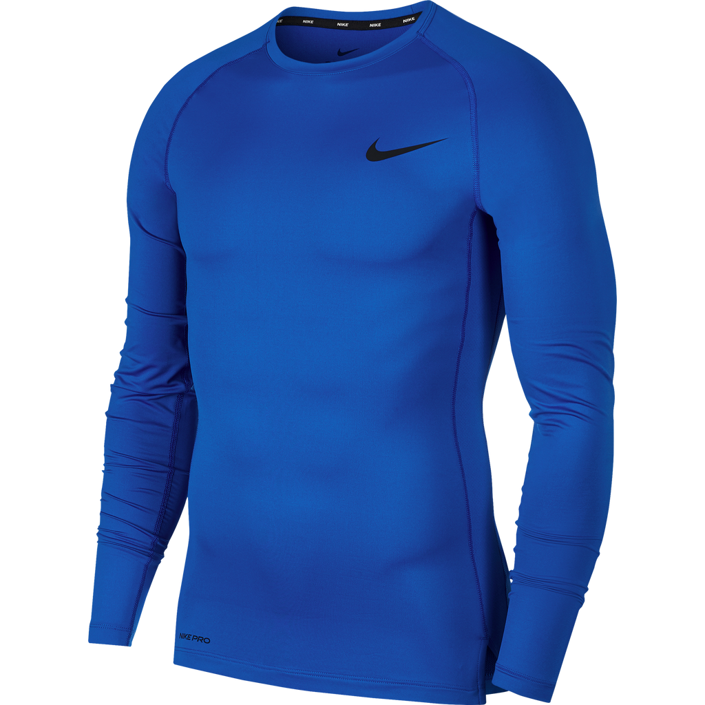 Nike Compression Crew Long Sleeve Top (Game Royal/Black)