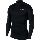 Nike Men's Pro Long-Sleeve Top (Black/White)