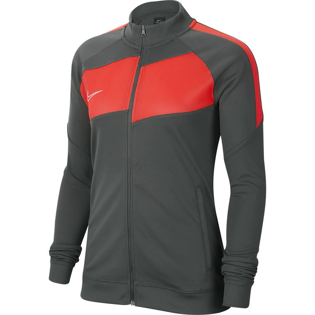 Nike Womens Academy Pro Knit Jacket (Anthracite/Bright Crimson)