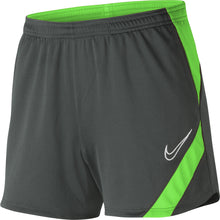 Load image into Gallery viewer, Nike Womens Academy Pro Knit Short (Anthracite/Green Strike)