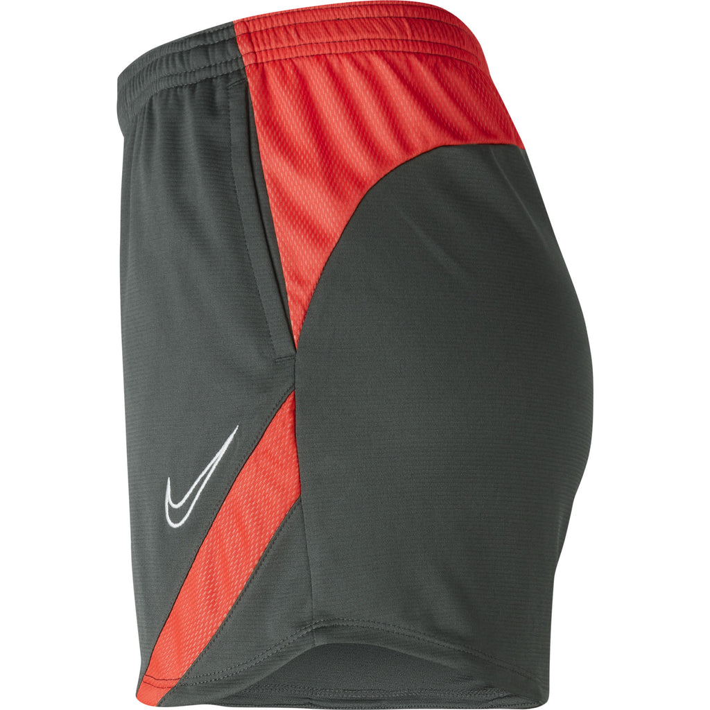 Nike Womens Academy Pro Knit Short (Anthracite/Bright Crimson)
