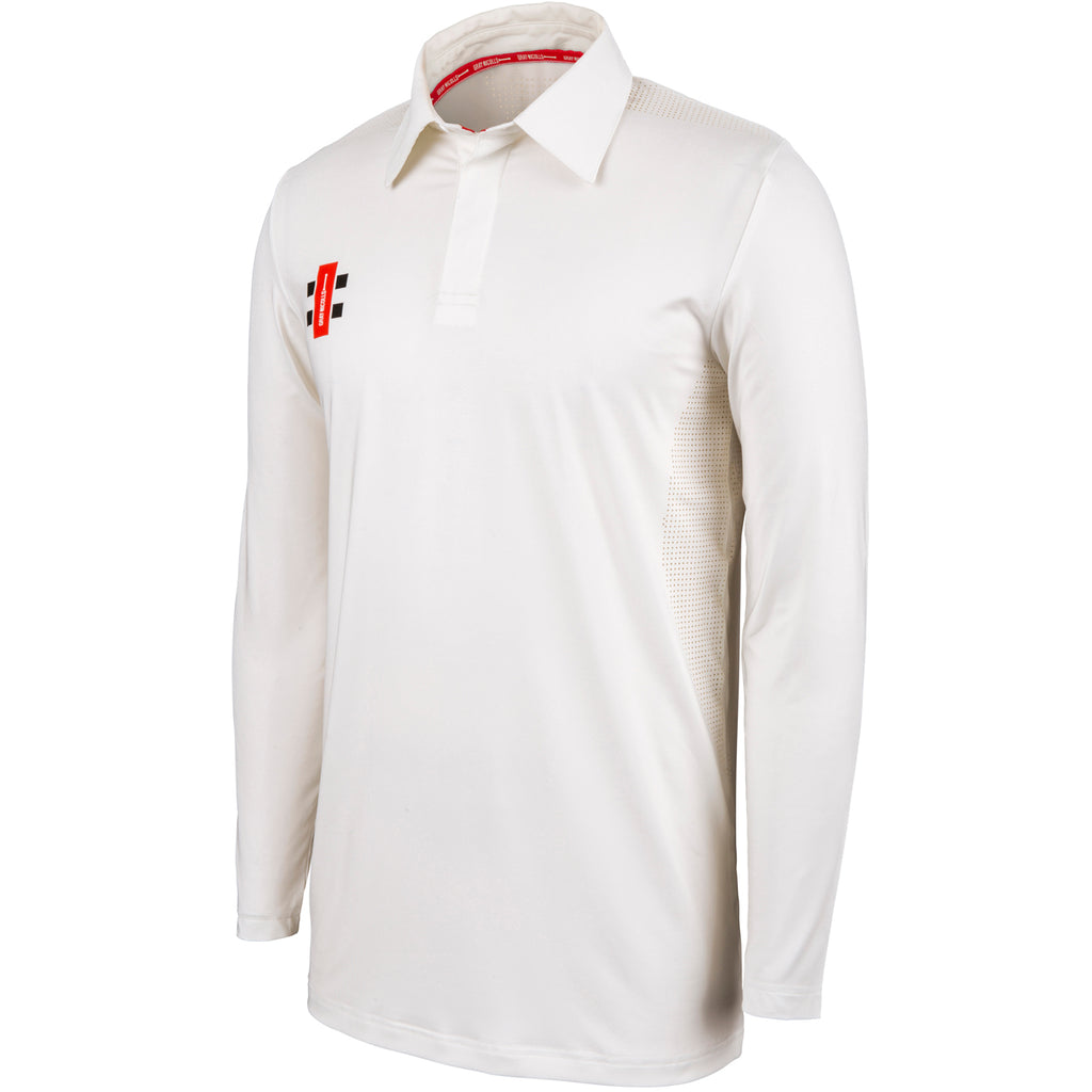 Gray Nicolls Pro Performance LS Shirt (Ivory)