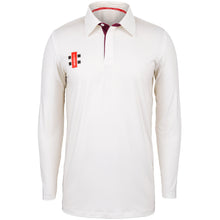 Load image into Gallery viewer, Gray Nicolls Pro Performance LS Shirt (Ivory/Maroon)