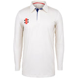 Gray Nicolls Pro Performance LS Shirt (Ivory/Navy)