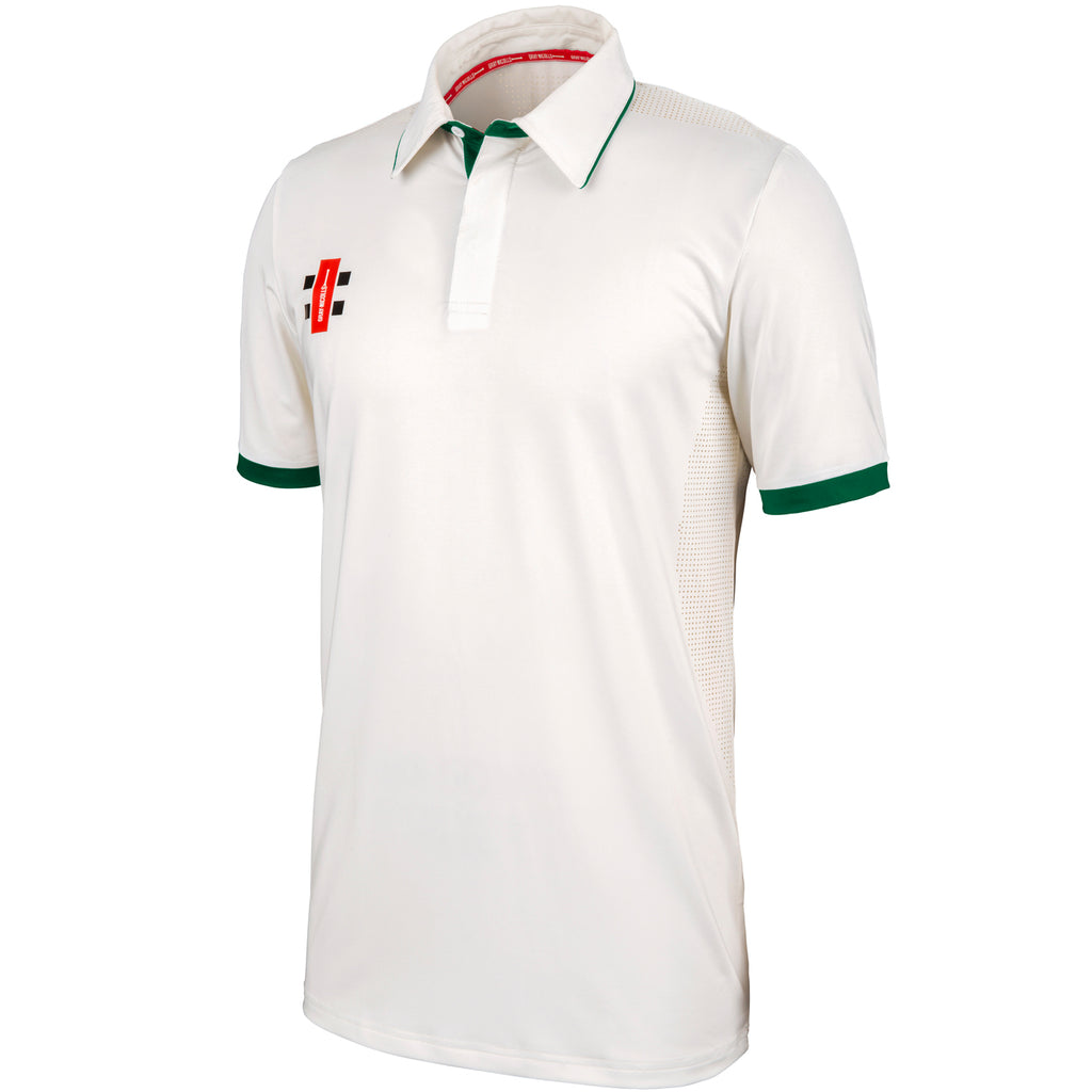 Gray Nicolls Pro Performance SS Shirt (Ivory/Green)