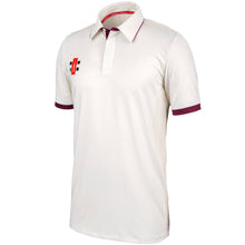 Load image into Gallery viewer, Gray Nicolls Pro Performance SS Shirt (Ivory/Maroon)