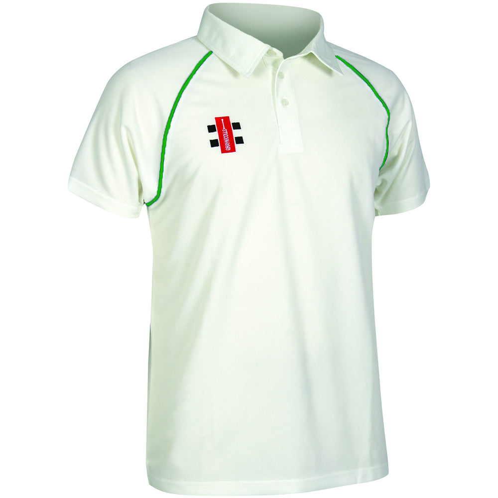 Gray Nicolls Matrix SS Shirt (Ivory/Green)