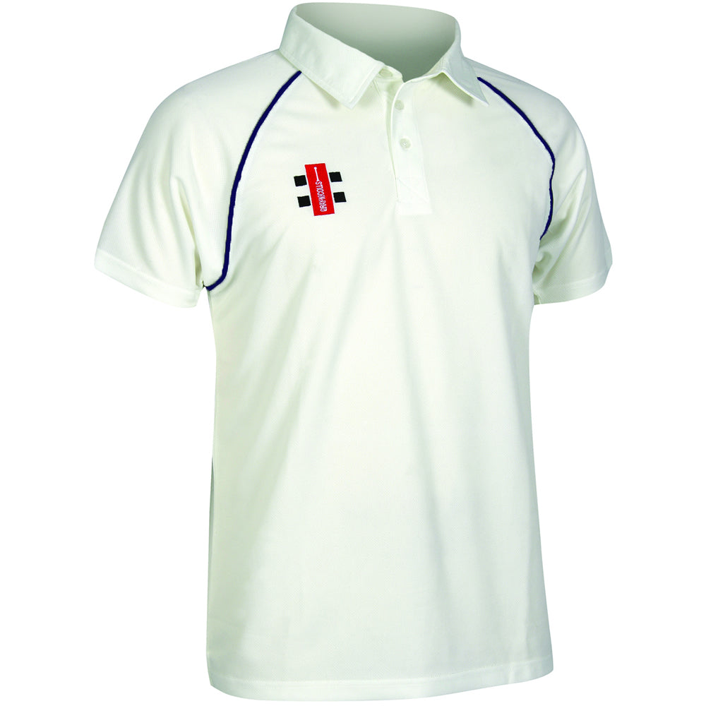 Gray Nicolls Matrix SS Shirt (Ivory/Navy)
