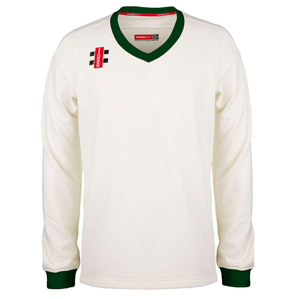 Gray Nicolls Pro Performance Sweater (Ivory/Green)