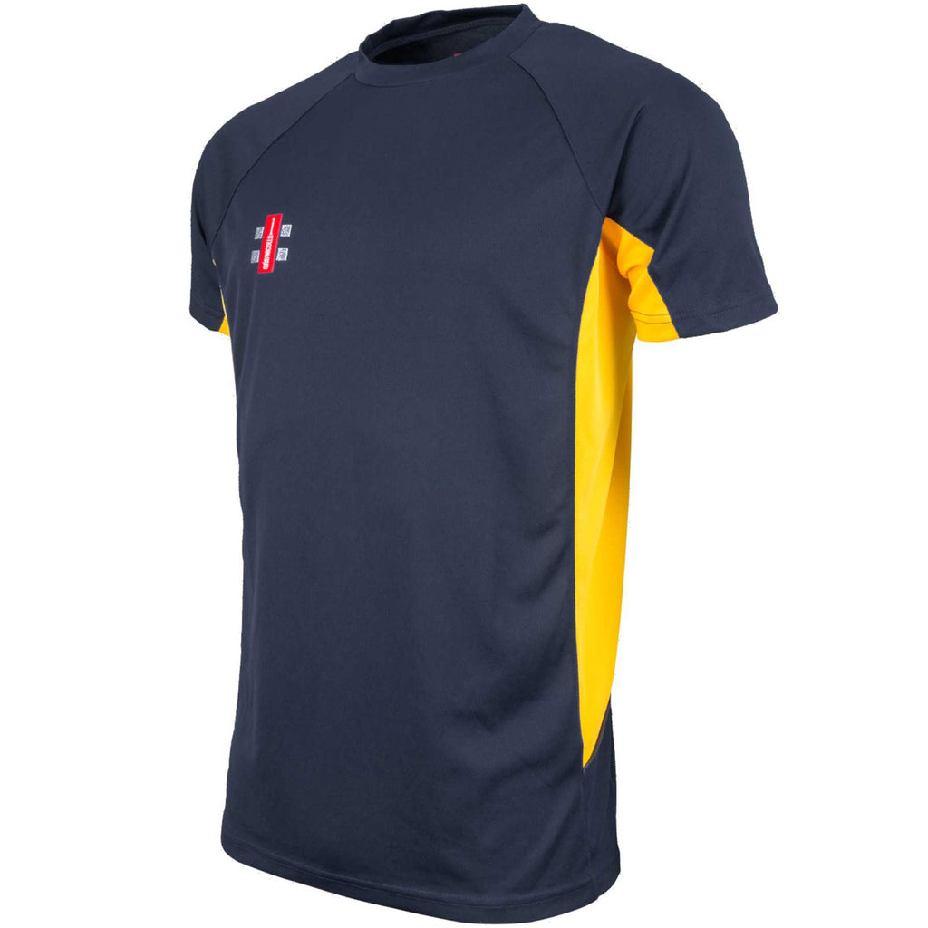 Gray Nicolls Matrix Tee Shirt (Navy/Gold)
