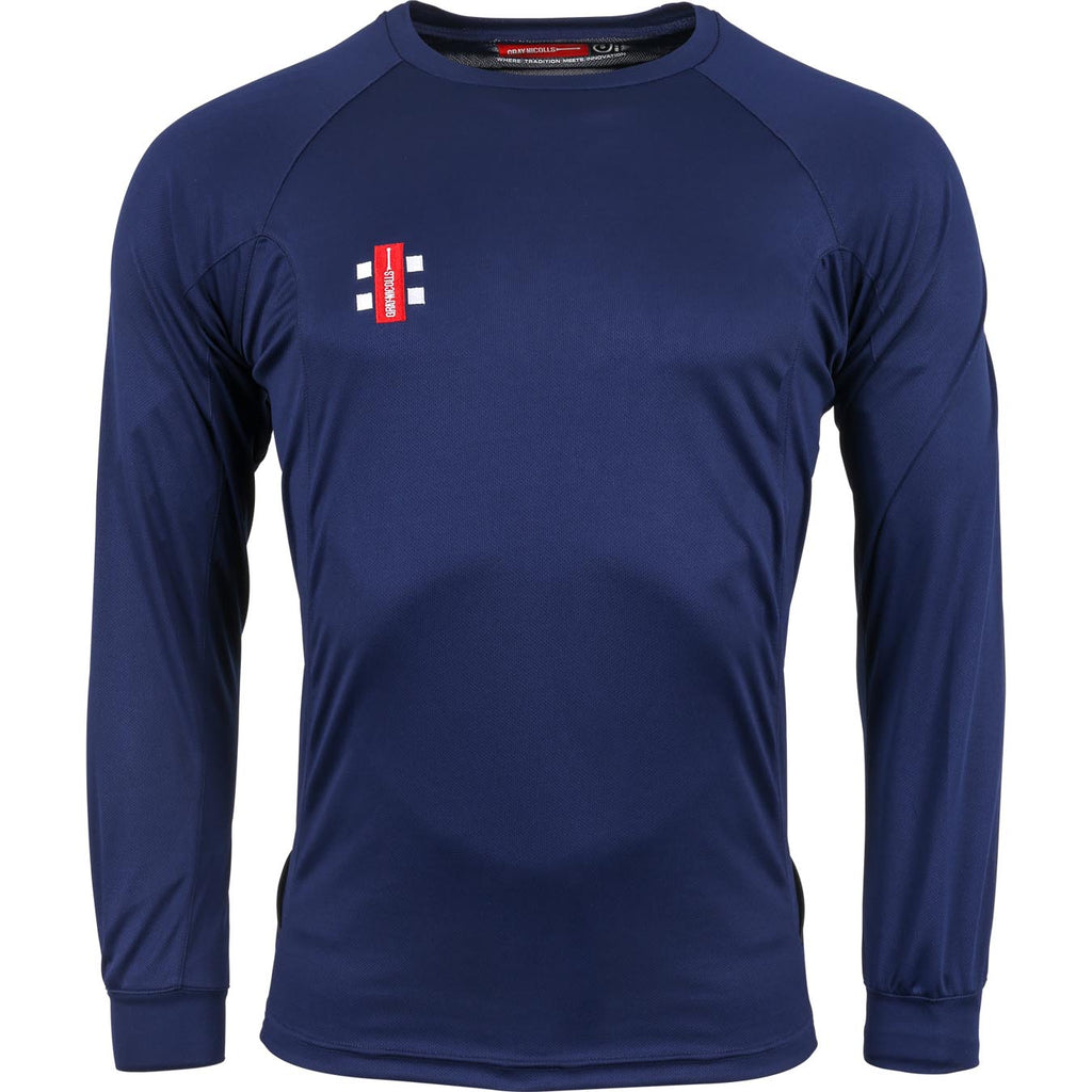 Gray Nicolls Matrix LS Tee Shirt (Navy)