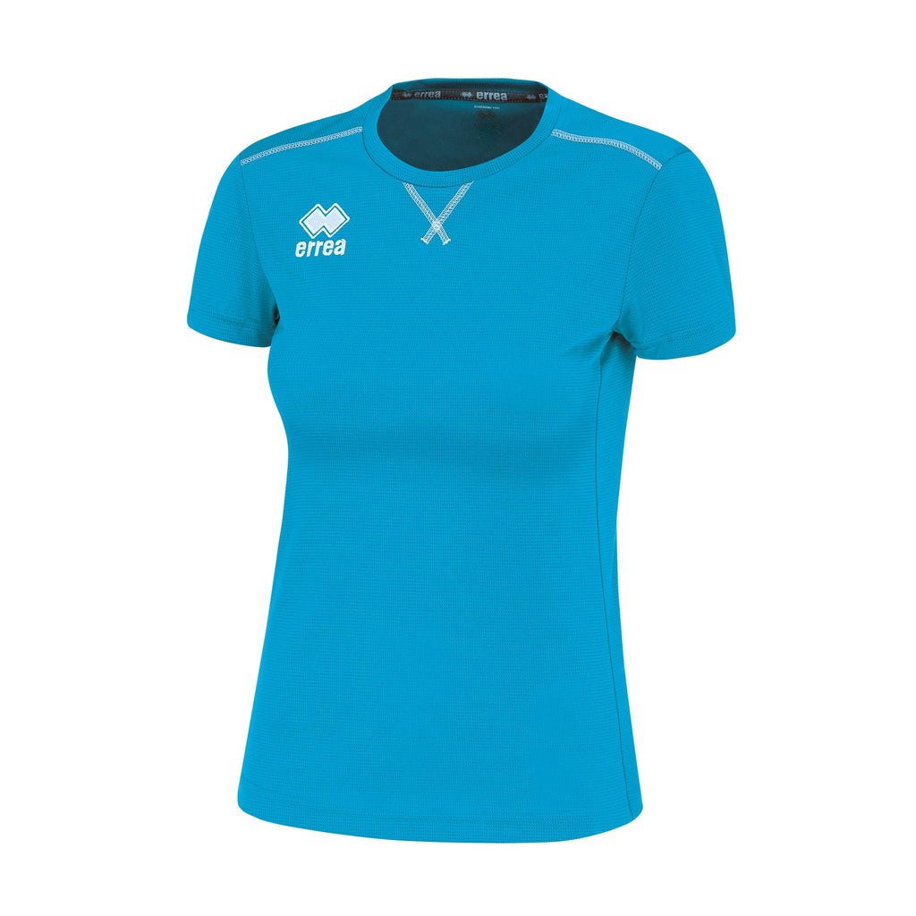 Errea Women's Marion Short Sleeve Shirt (Cyan)