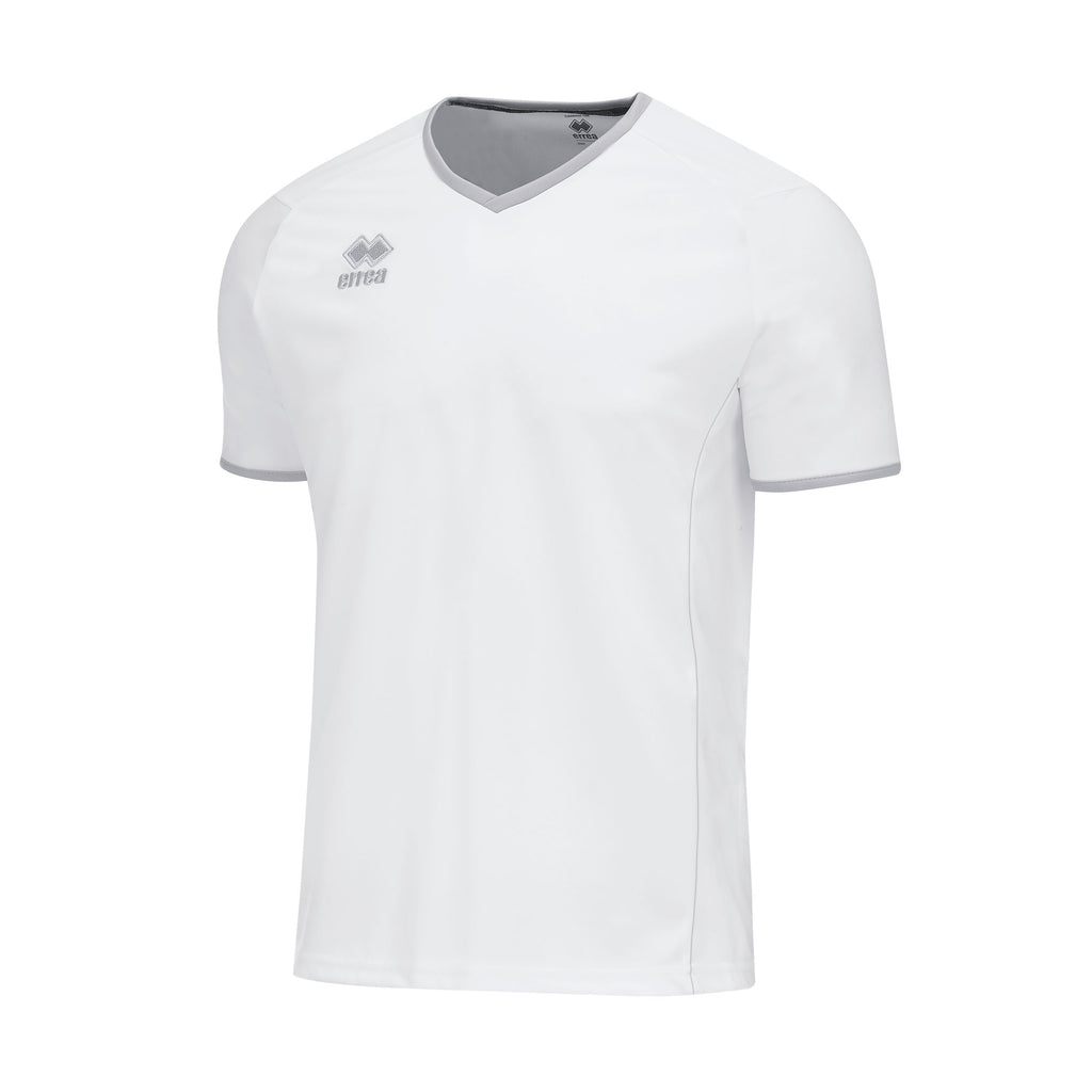 Errea Lennox Short Sleeve Shirt (White/Grey)