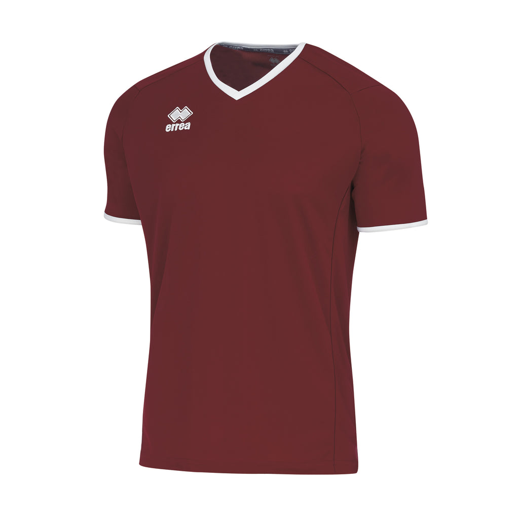 Errea Lennox Short Sleeve Shirt (Maroon/White)