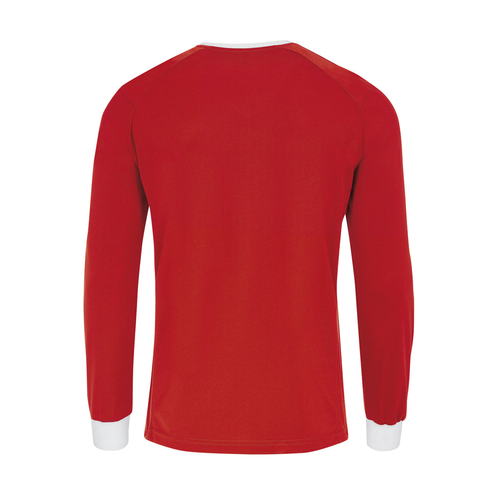 Errea Lennox Long Sleeve Shirt (Red/White)
