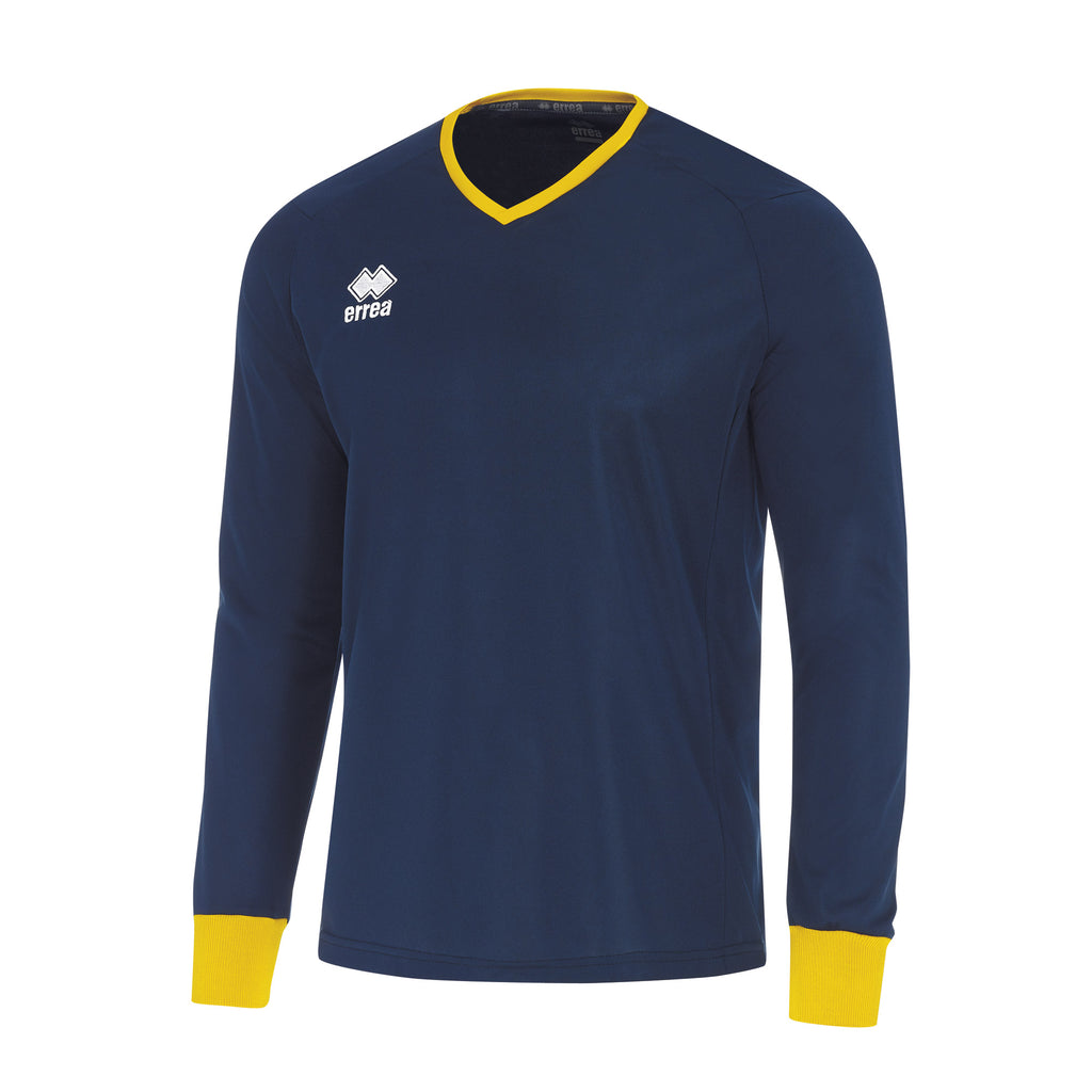 Errea Lennox Long Sleeve Shirt (Navy/Yellow)