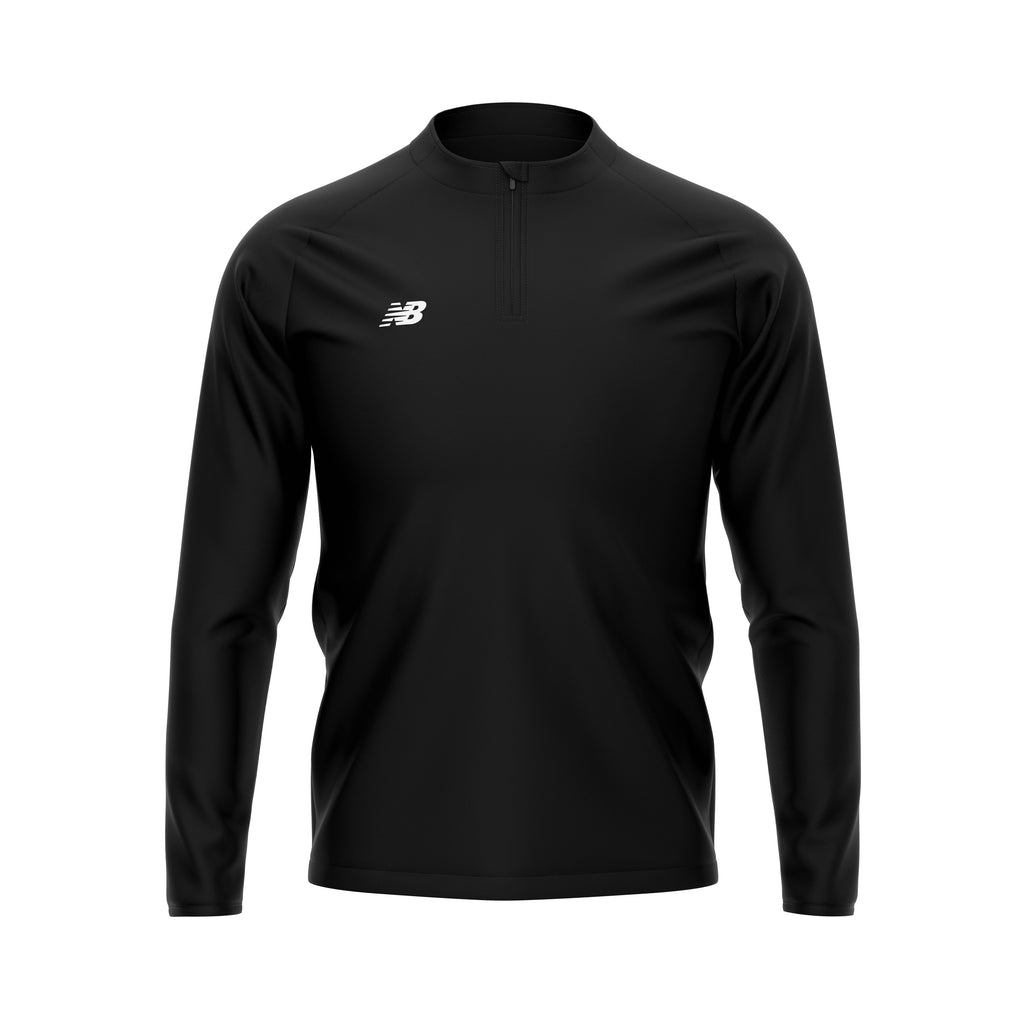 New Balance Teamwear Training 1/4 Zip Knitted Midlayer (Black)