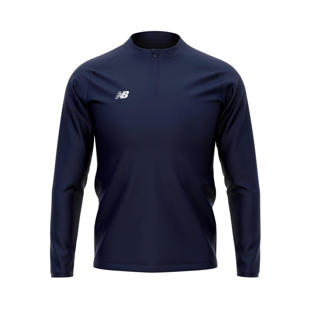 New Balance Womens Teamwear Training 1/4 Zip Knitted Midlayer (Navy)
