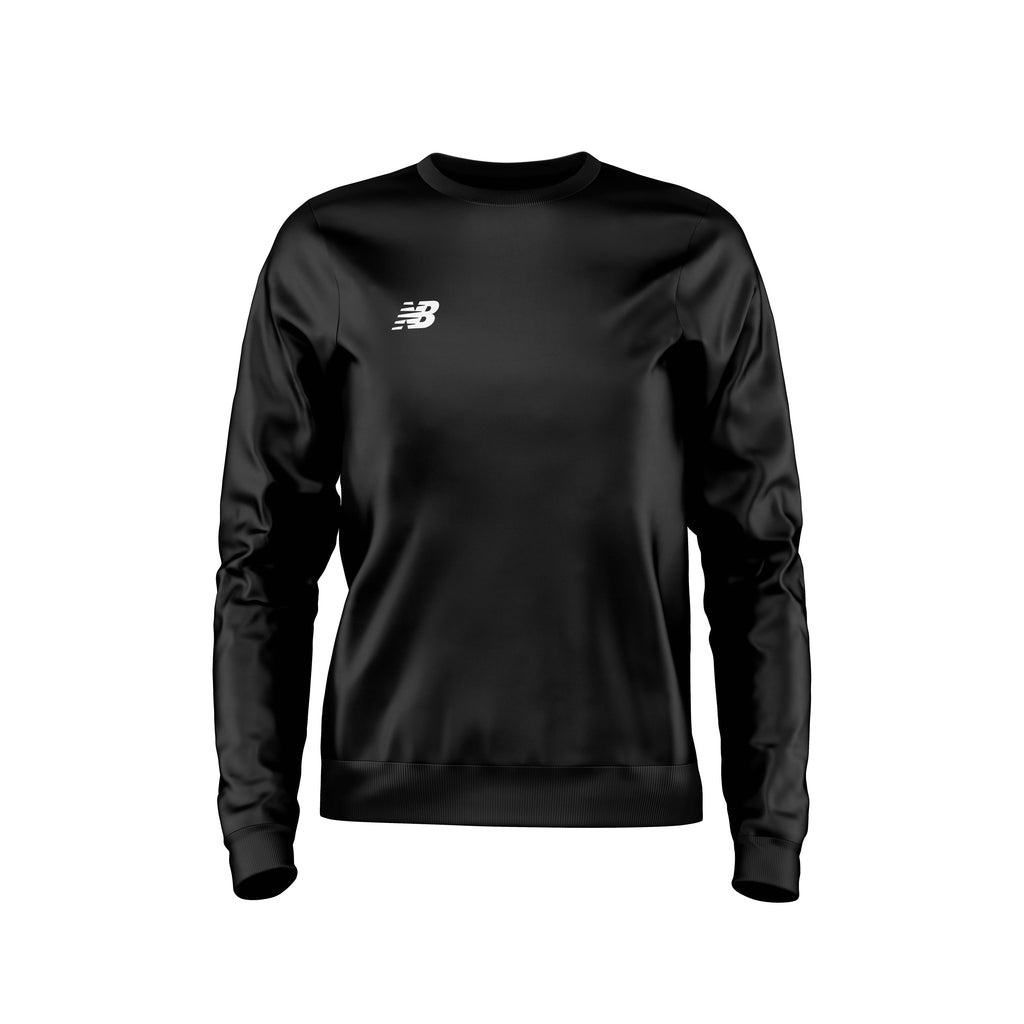 New Balance Womens Teamwear Training Sweater (Black)
