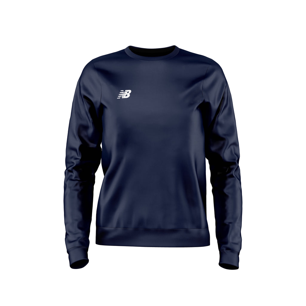 New Balance Womens Teamwear Training Sweater (Navy)