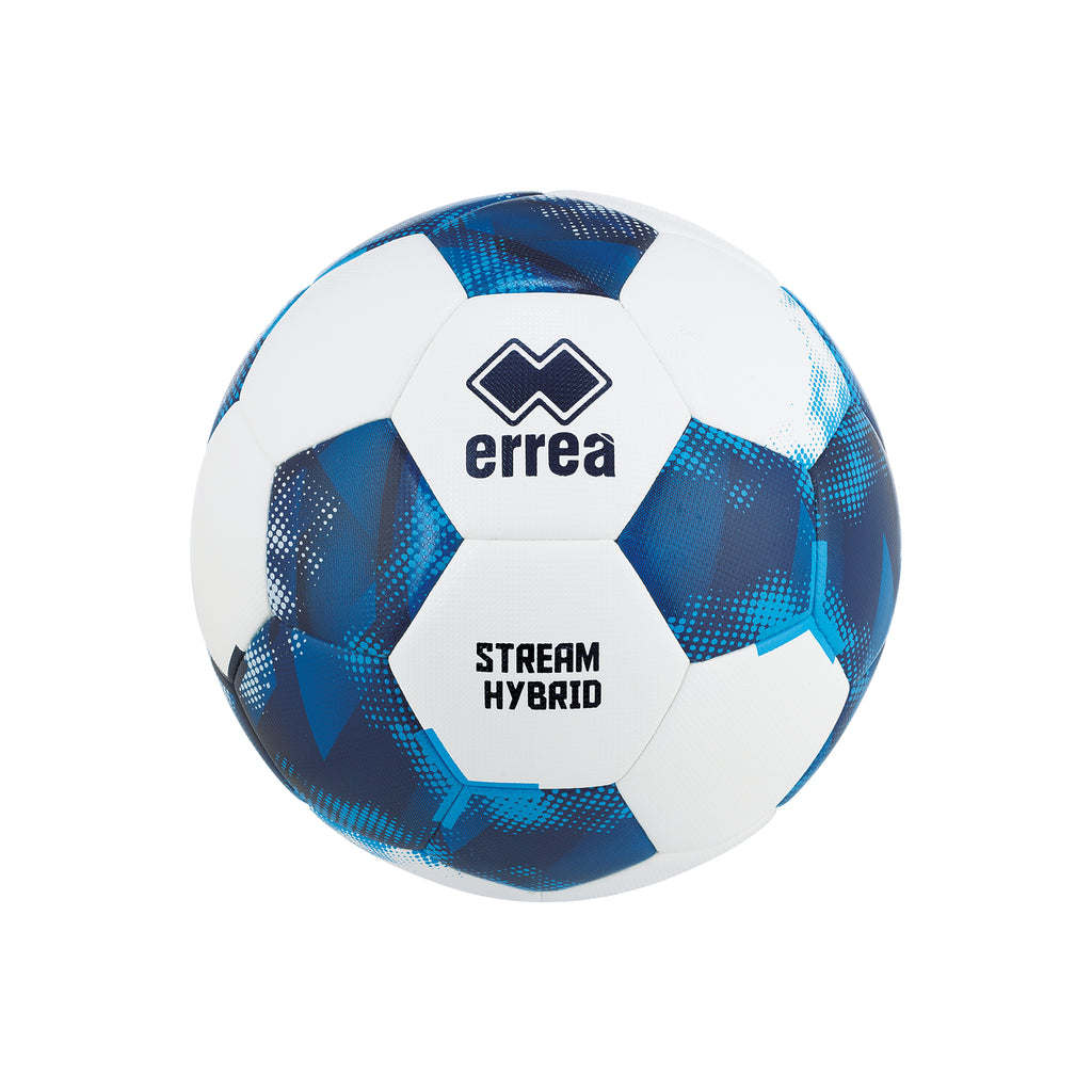 Errea Stream Hybrid Football (White/Navy/Sky)