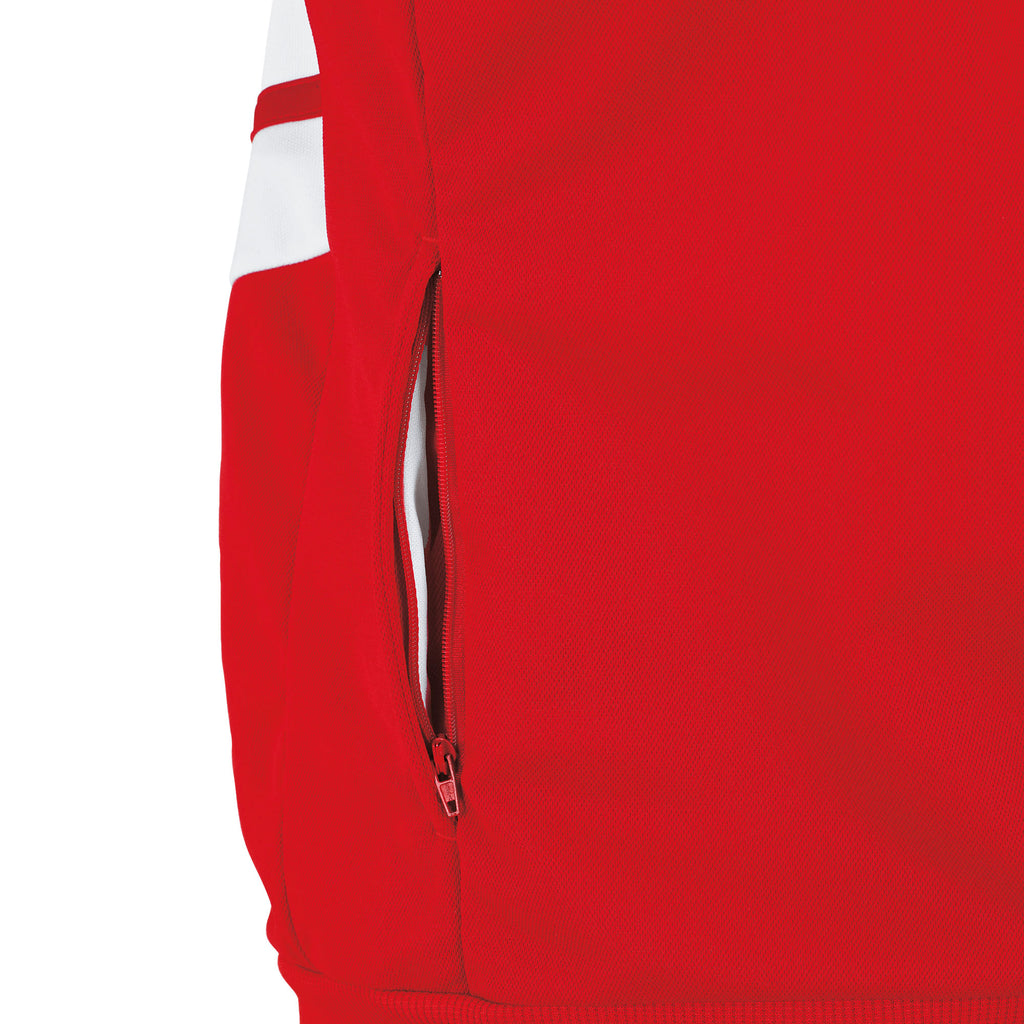Errea Jill Full Zip Hoodie (Red/White)