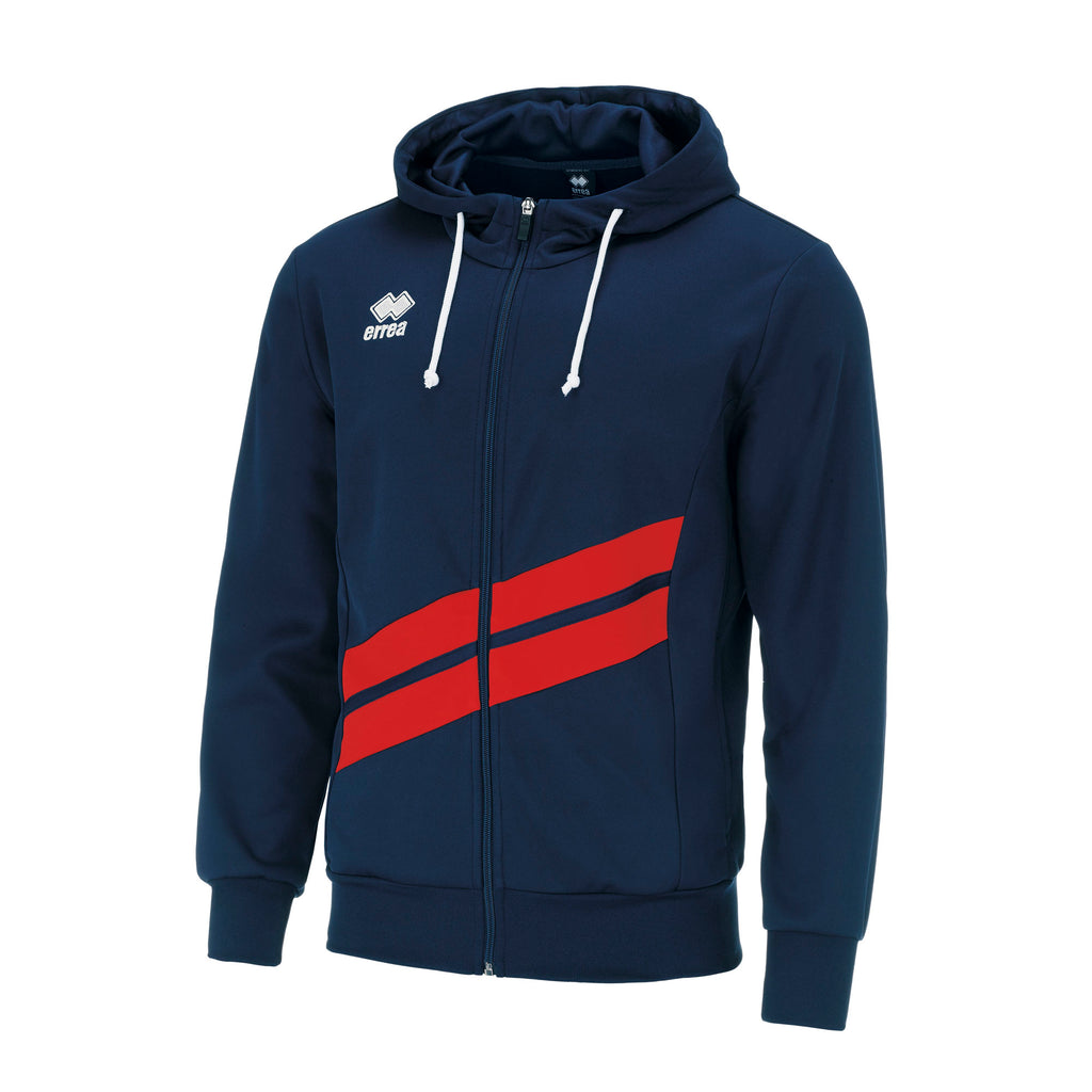 Errea Jill Full Zip Hoodie (Navy/Red)