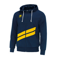 Load image into Gallery viewer, Errea Jill Full Zip Hoodie (Navy/Yellow)