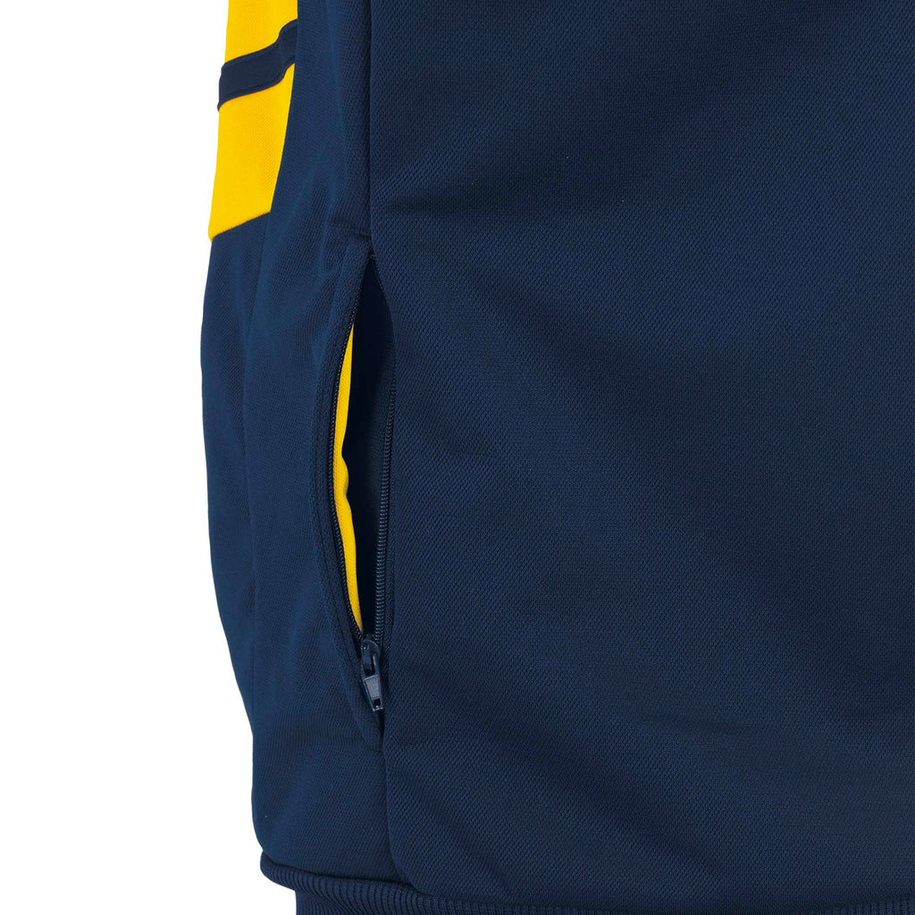 Errea Jill Full Zip Hoodie (Navy/Yellow)