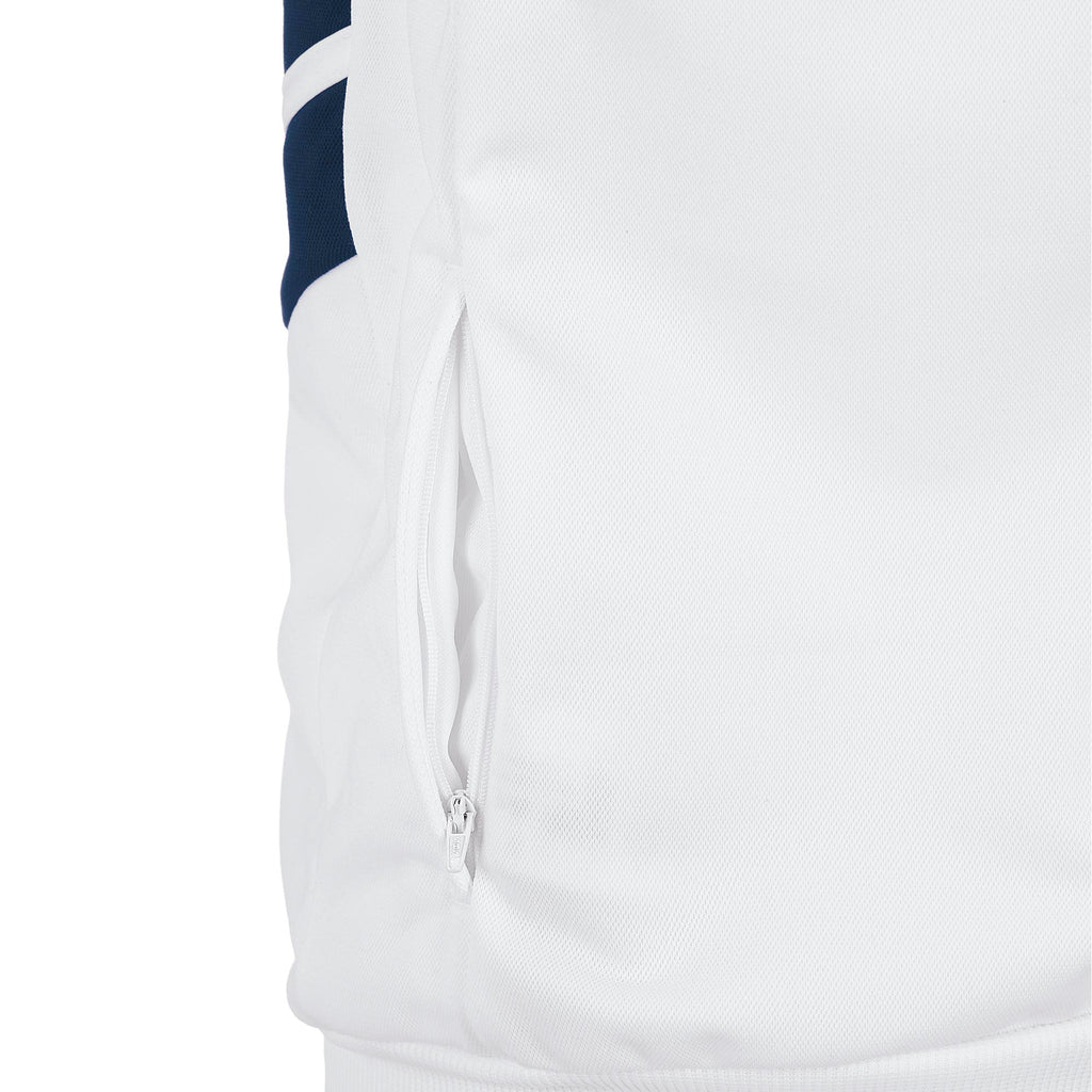 Errea Jim Full Zip Jacket (White/Navy)