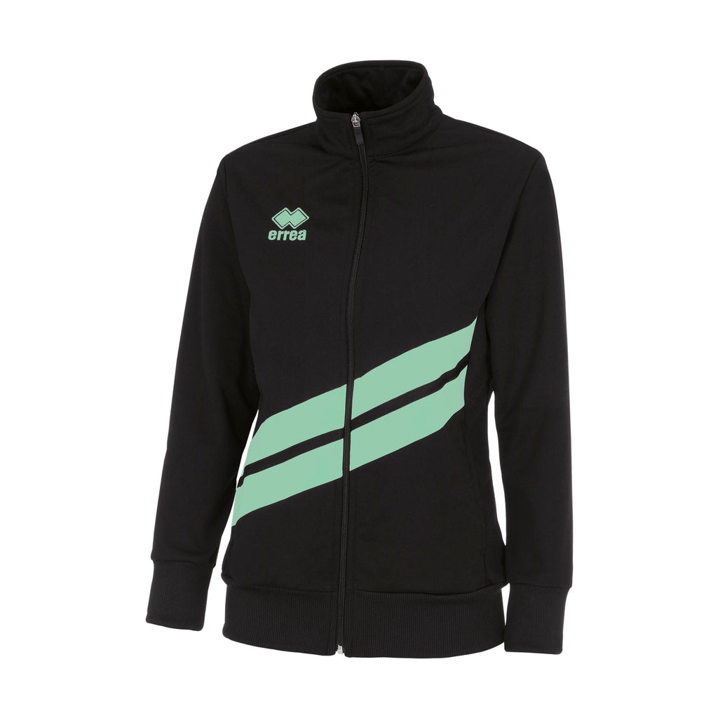 Errea Women's Jessy Full Zip Jacket (Black/After Eight)