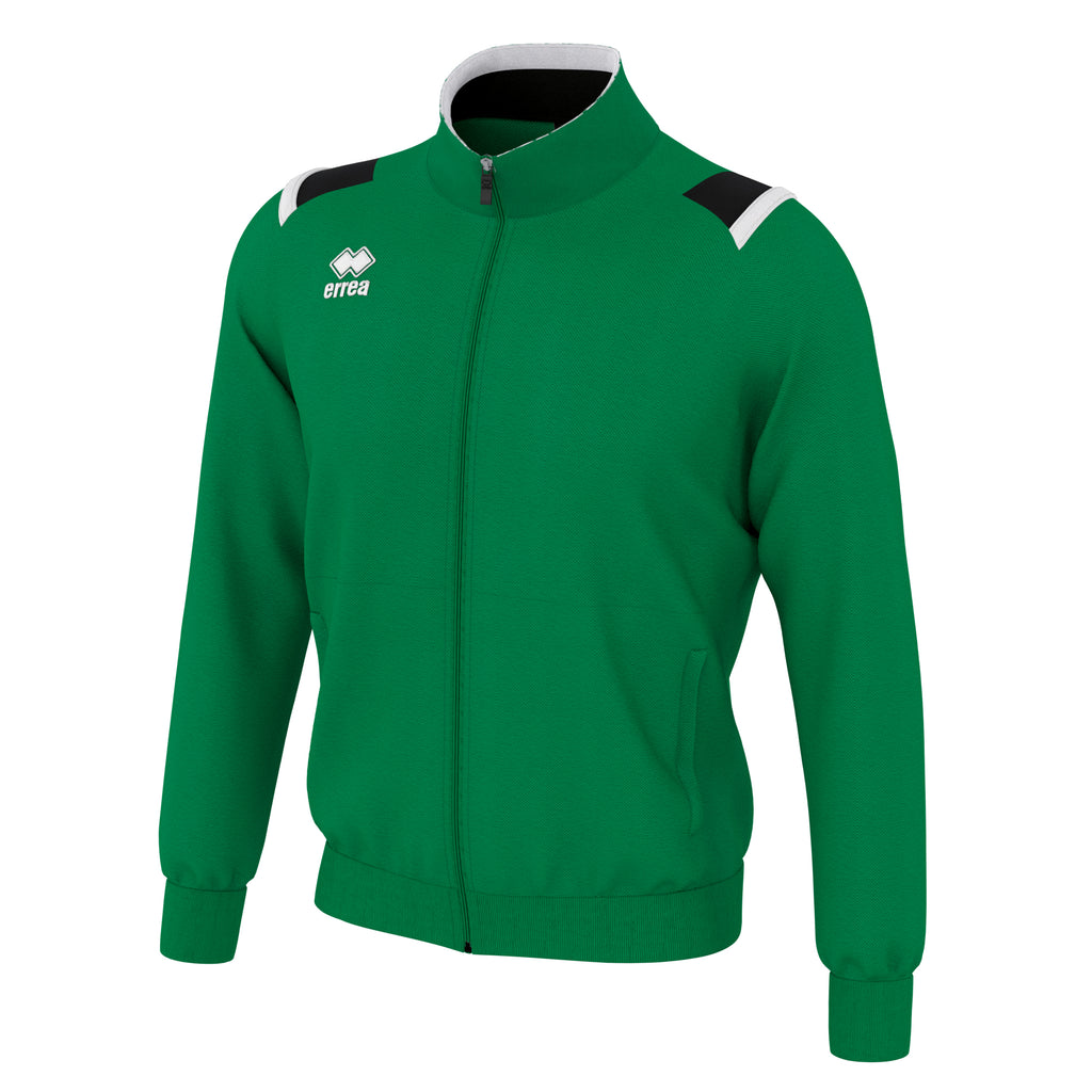 Errea Lou Full Zip Jacket (Green/Black/White)