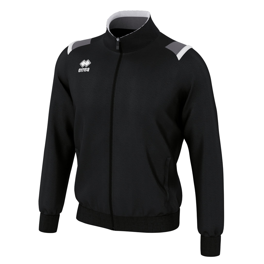 Errea Lou Full Zip Jacket (Black/Anthracite/White)