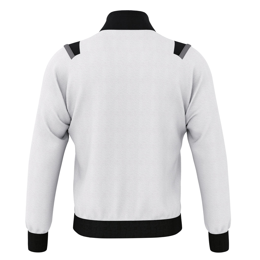 Errea Lou Full Zip Jacket (White/Black/Anthracite)