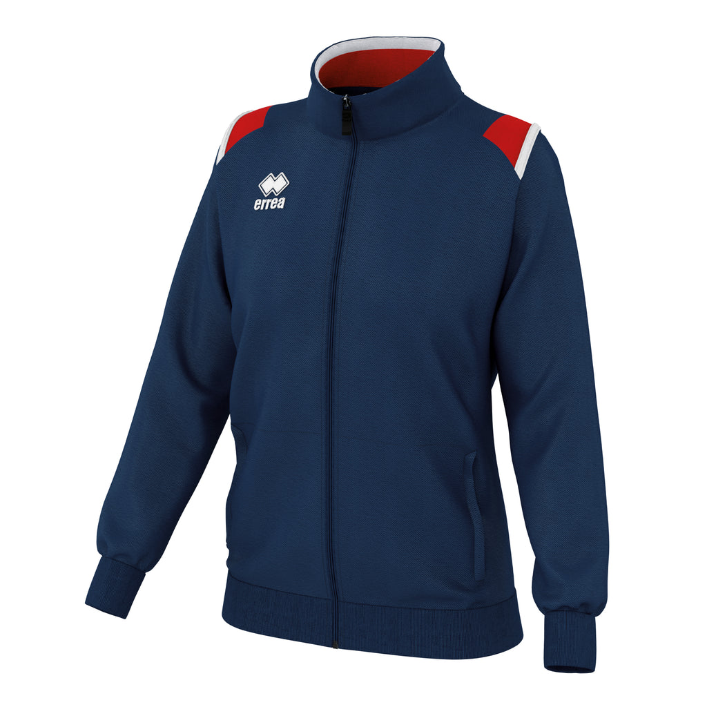 Errea Women's Loren Full Zip Jacket (Navy/Red/White)