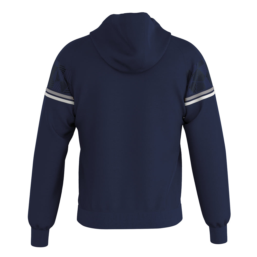 Errea Dragos Full-Zip Hooded Top (Navy/Grey/White)