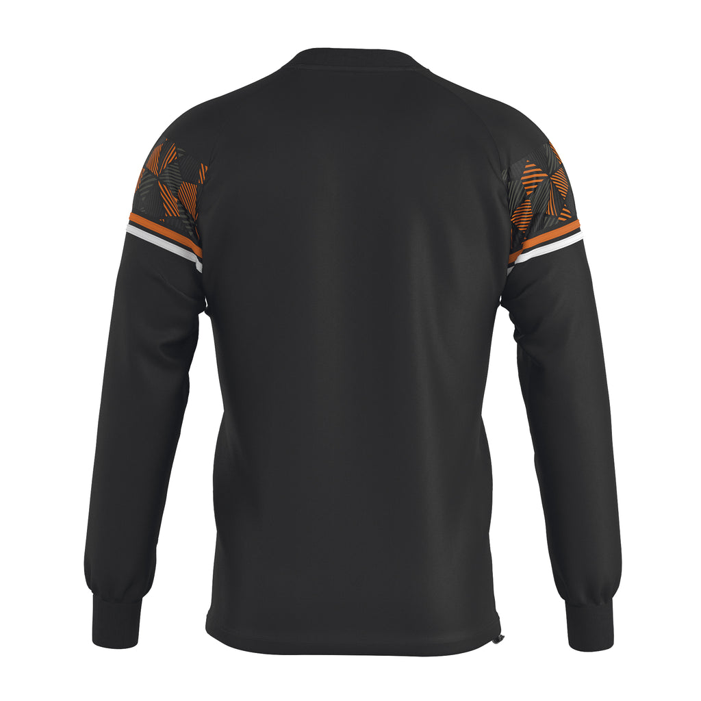 Errea Davis Crew Top (Black/Orange Fluo/White)