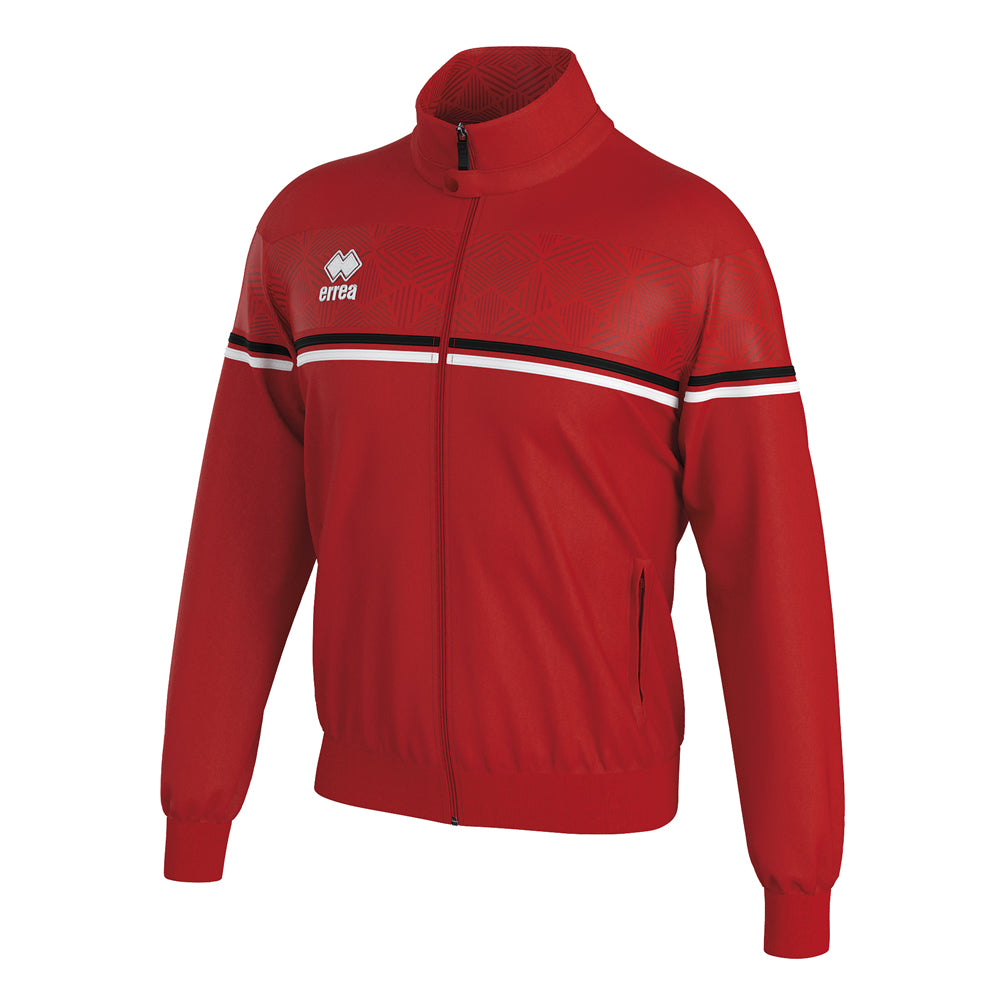 Errea Dexter Full-Zip Jacket (Red/Black/White)